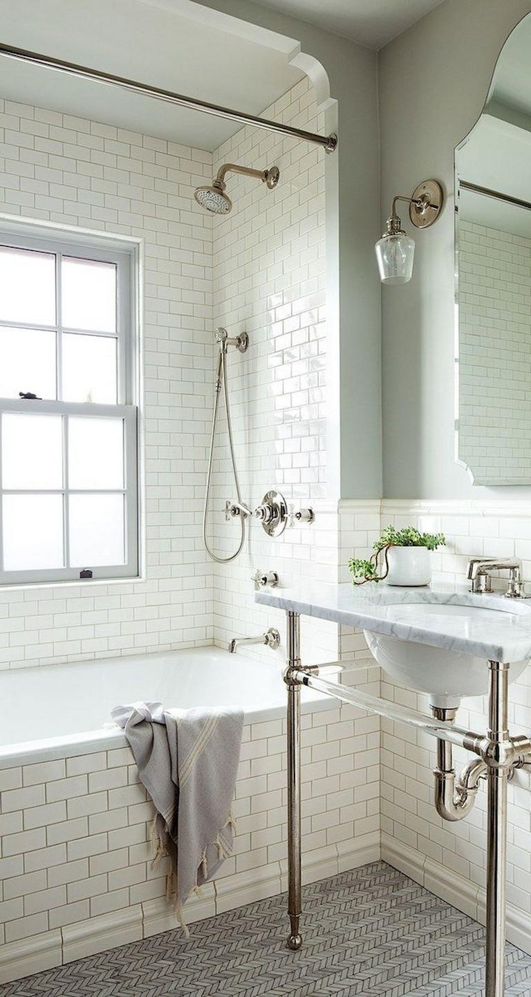 57 amazing small master bathroom tile makeover design ideas