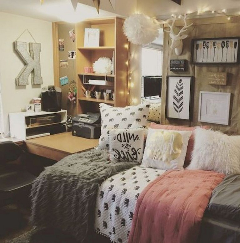 74 cheap cute dorm room decorating ideas on a budget