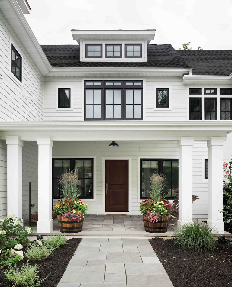 Home Design Ideas Outside: 53+ Amazing Urban Farmhouse Exterior Design Ideas