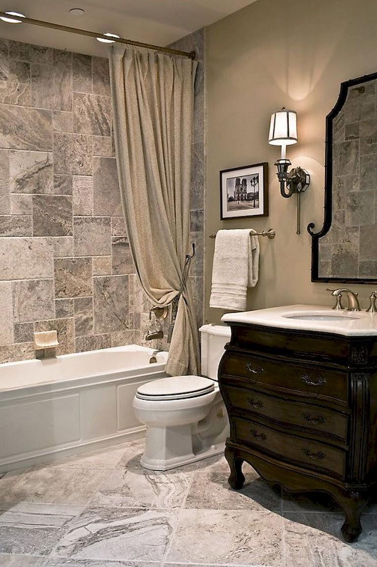 57+ Amazing Small Master Bathroom Tile Makeover Design Ideas